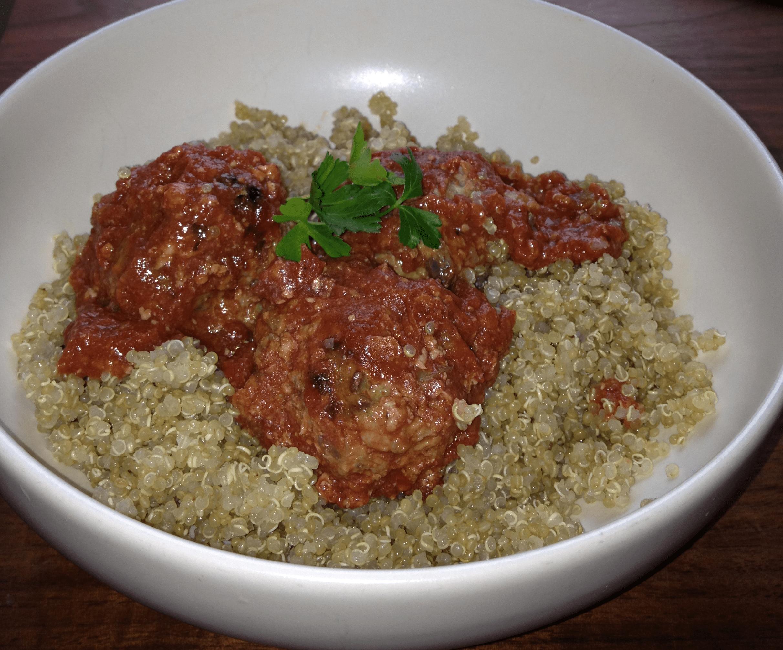Turkey-mushroom meatballs