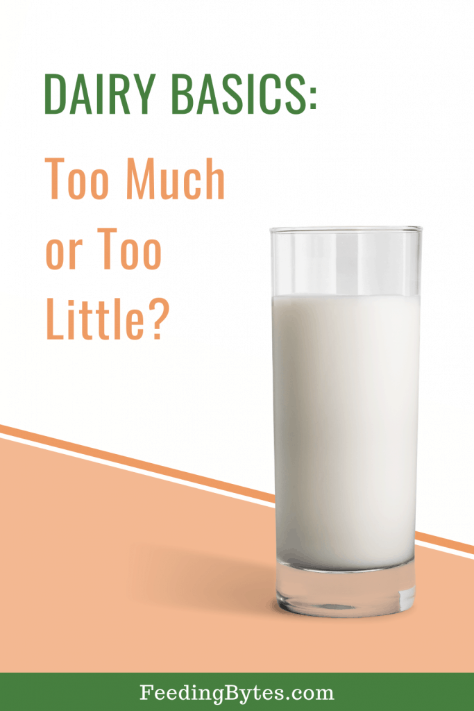 Dairy basics for toddlers: too much or too little?