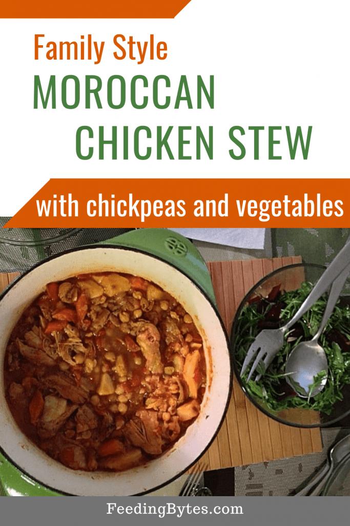 Family Style Moroccan Chicken Stew Recipe