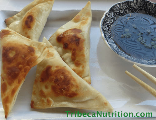 Easy Chinese chicken dumplings