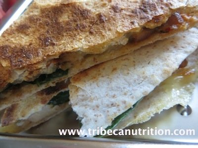 Chicken Spinach Quesadillas