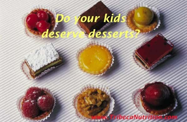 How to serve dessert to kids?