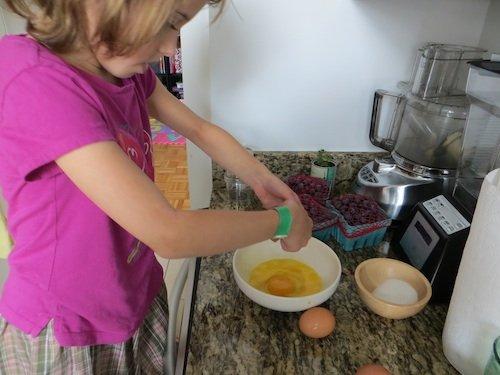 Sasha's vegetable and cheese omelet
