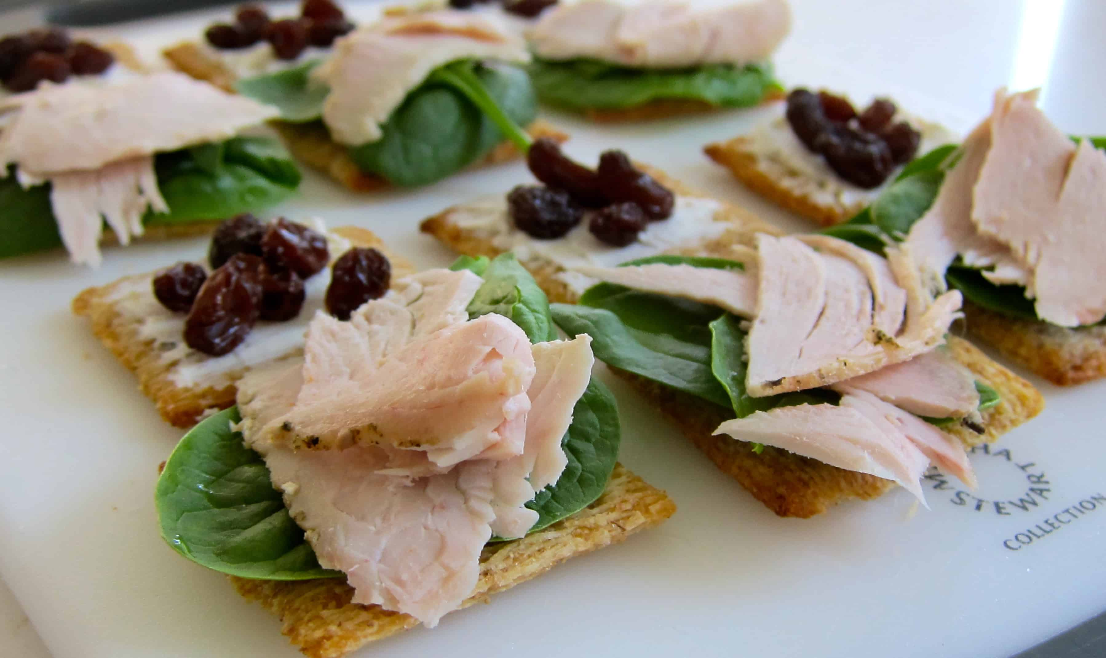 No-Cook Snacks: Whole Wheat Cracker Turkey Sandwiches