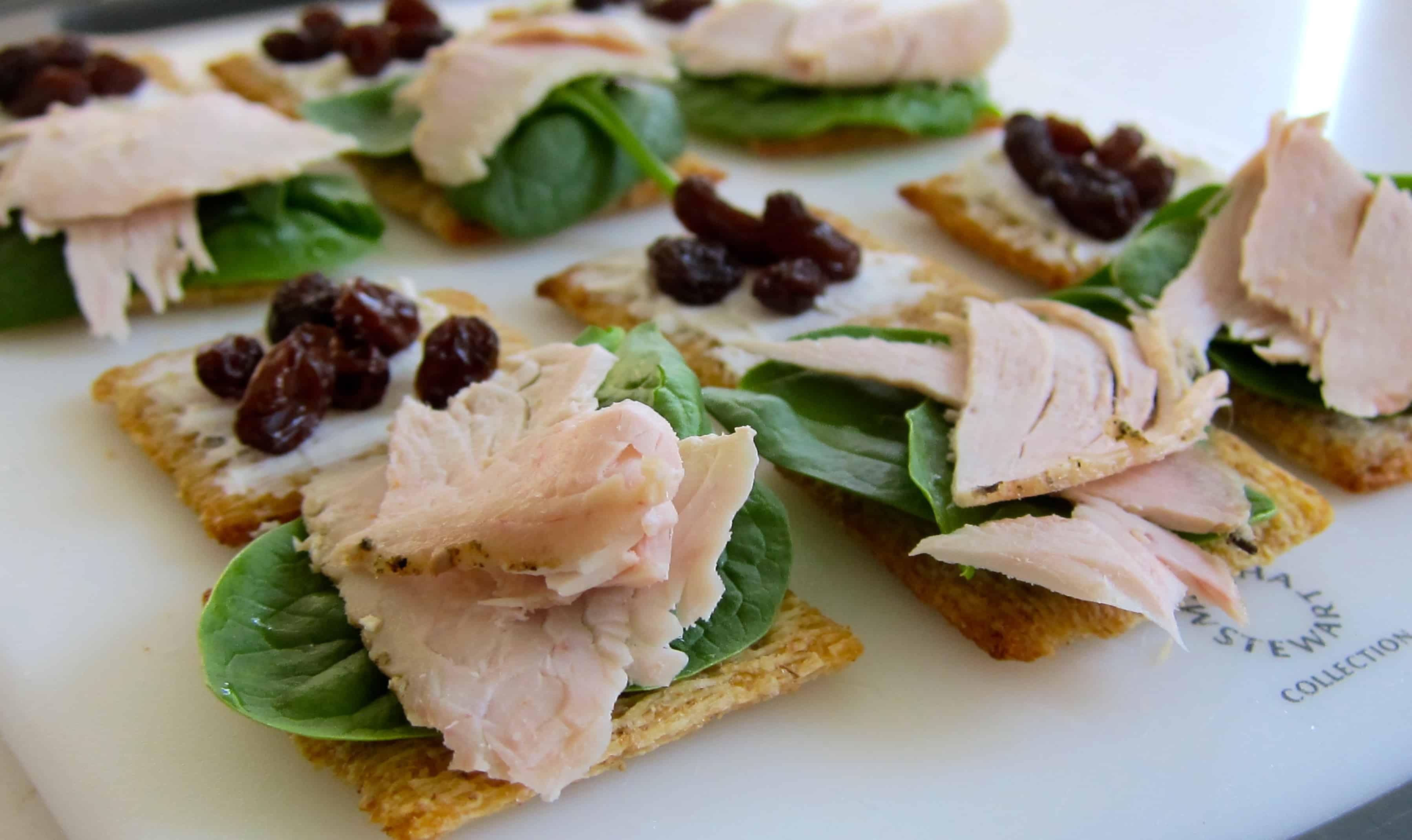 No-Cook Snacks: Whole Wheat Cracker Turkey Sandwiches