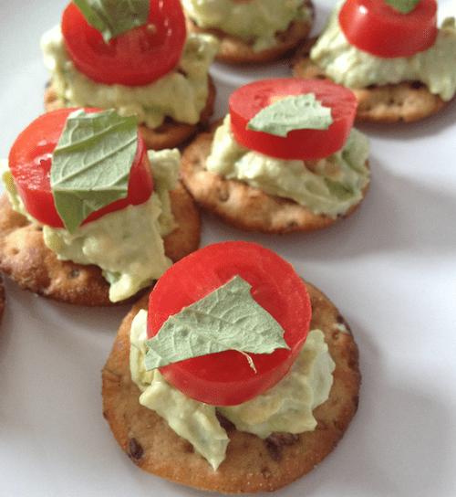 Homemade snacks: creamy tomato toast