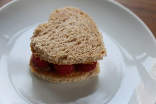 Raspberry wow butter sandwich