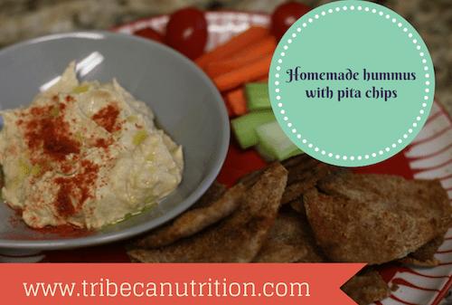 How to make pita chips and hummus at home