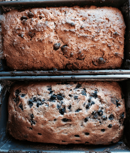 Chocolate/Blueberry Banana Bread