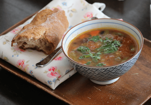 Three bean soup – a quick family friendly dinner