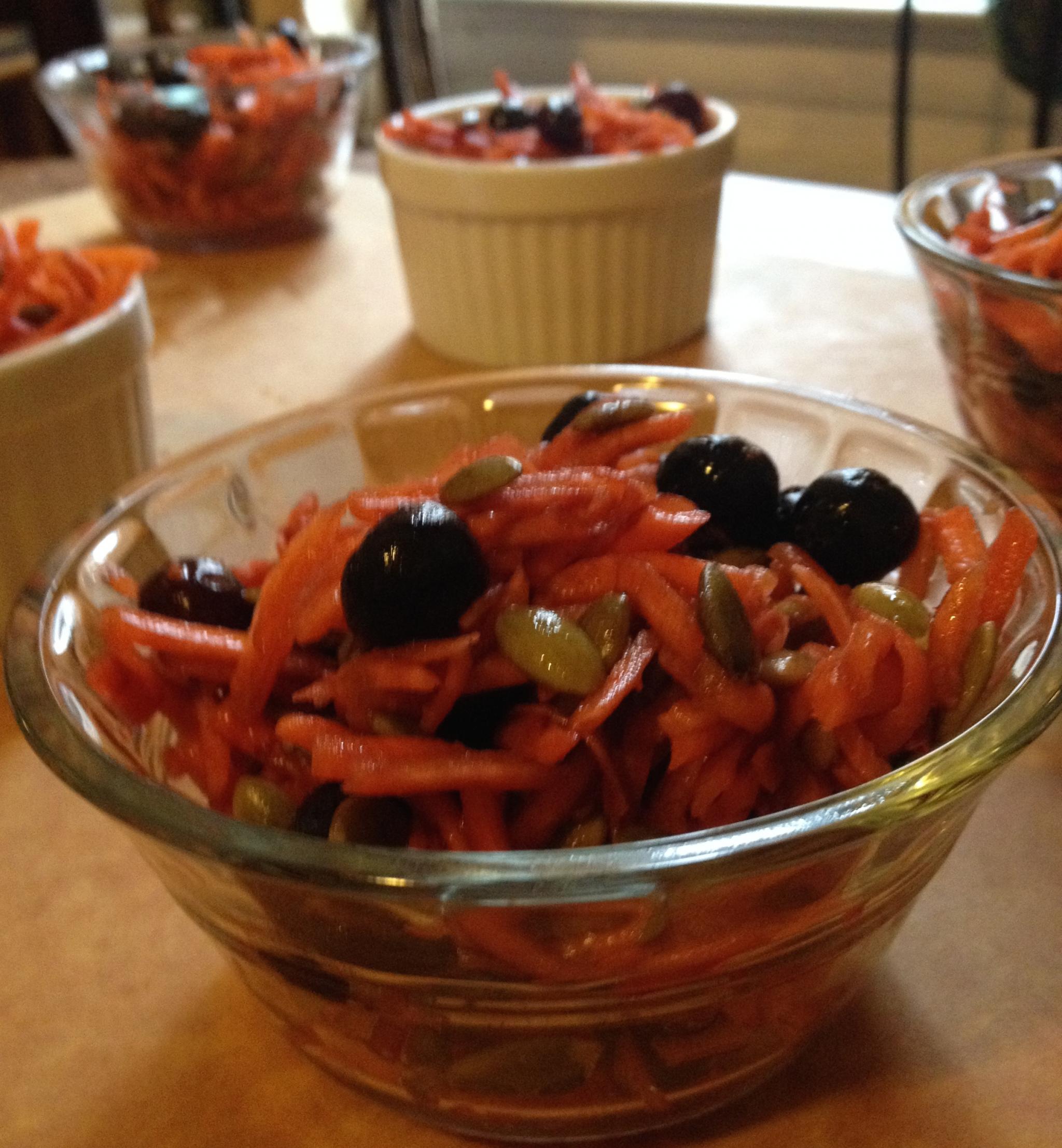 Carrot salad - healthy gluten free snack