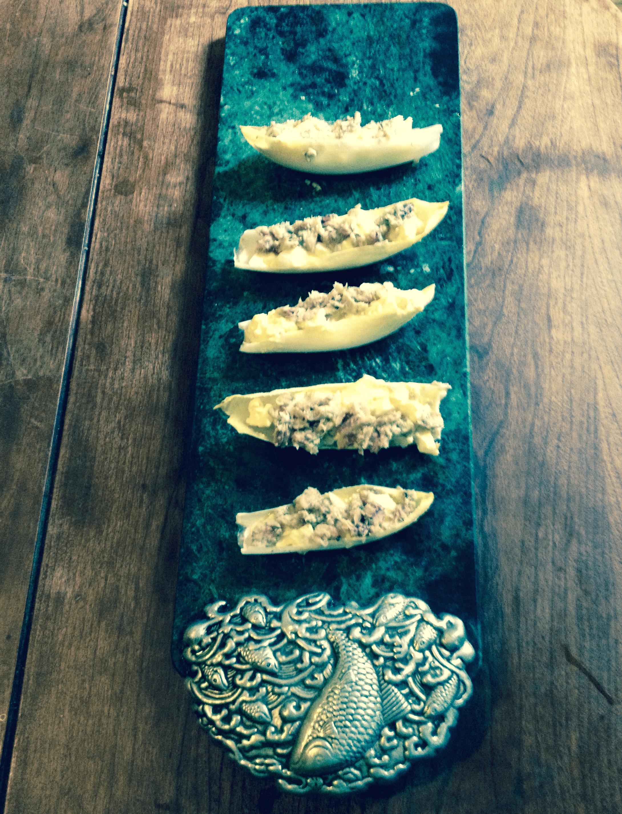 Sardines in a canoe - healthy gluten free snack