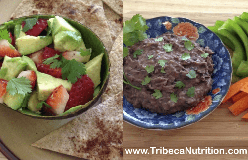 Dips for kids: Strawberry Avocado Salsa and Black Bean Dip