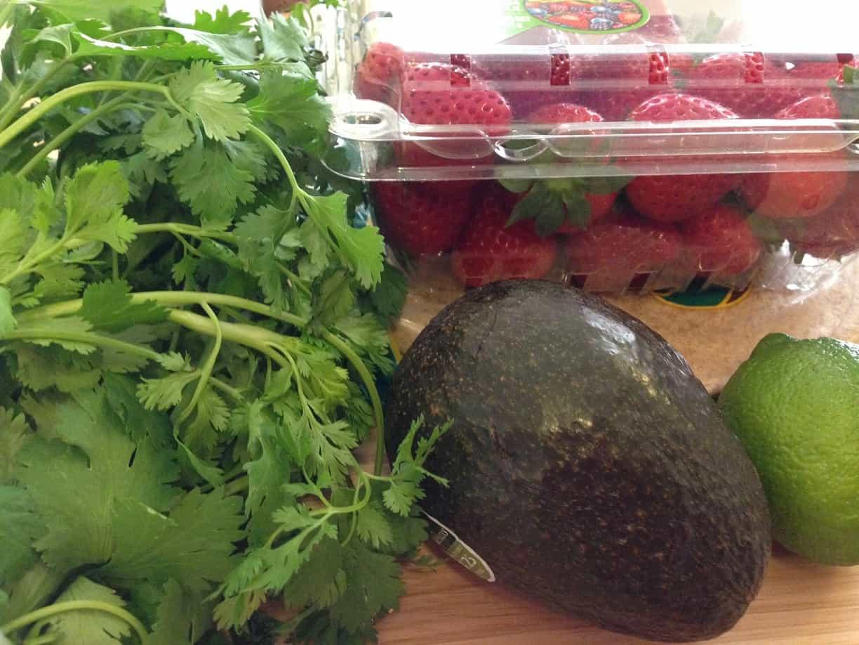 Strawberry Avocado Salsa Prep
