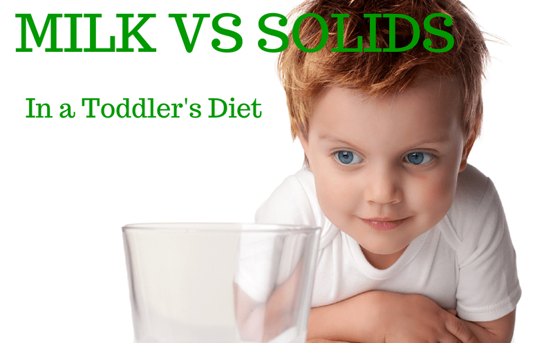 Milk and solids in toddler's diet