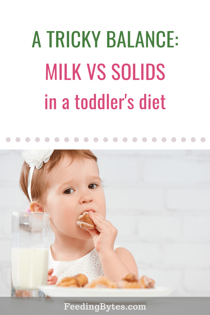 How to balance milk and solids in a toddler's diet