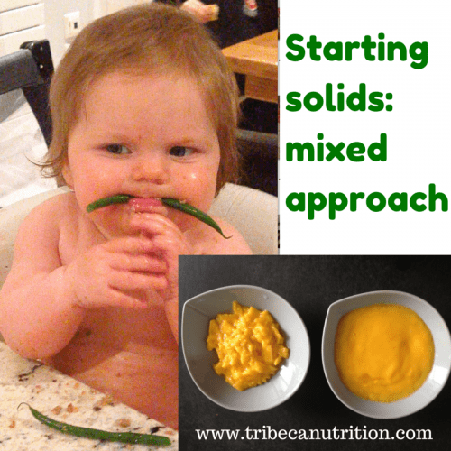 Starting solids: mixed approach