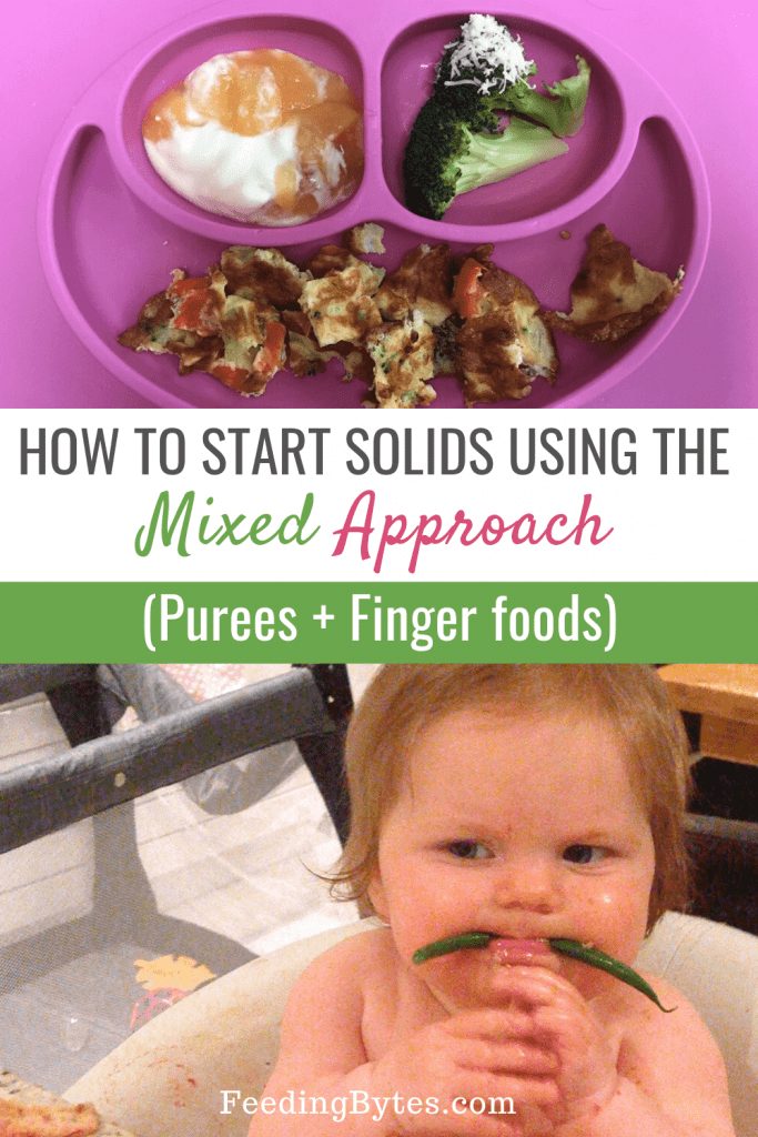 Starting solids for baby - a mixed approach