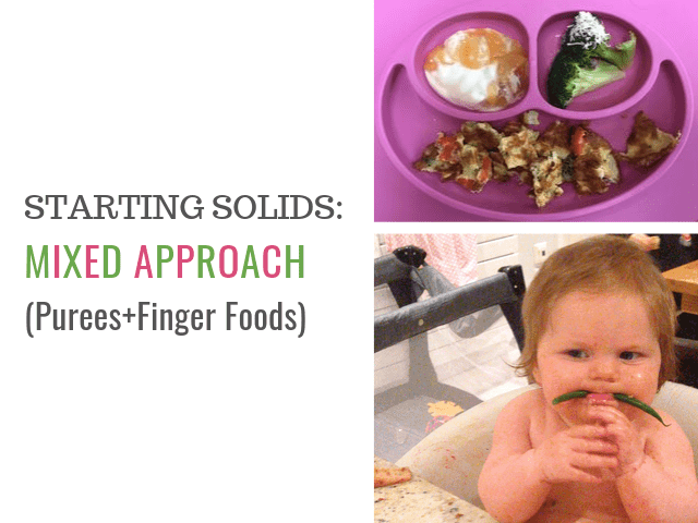 starting solids for baby - mixed approach