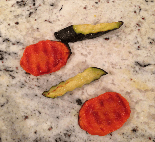 roasted vegetables - finger foods for a 6-month-old
