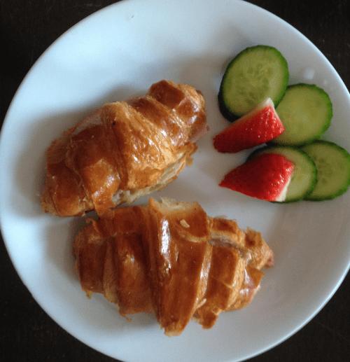 Breakfast ideas- Ham croissants