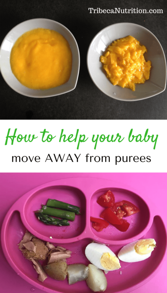 Baby stuck on purees? Help him move to more textured foods.
