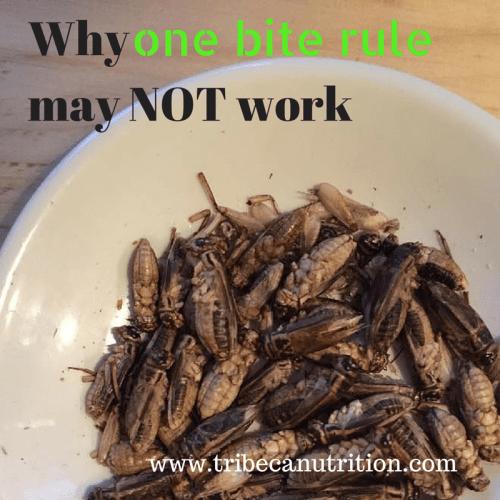 Why one bite rule
