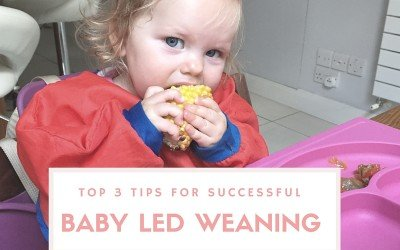 Top 3 tips for successful Baby Led Weaning