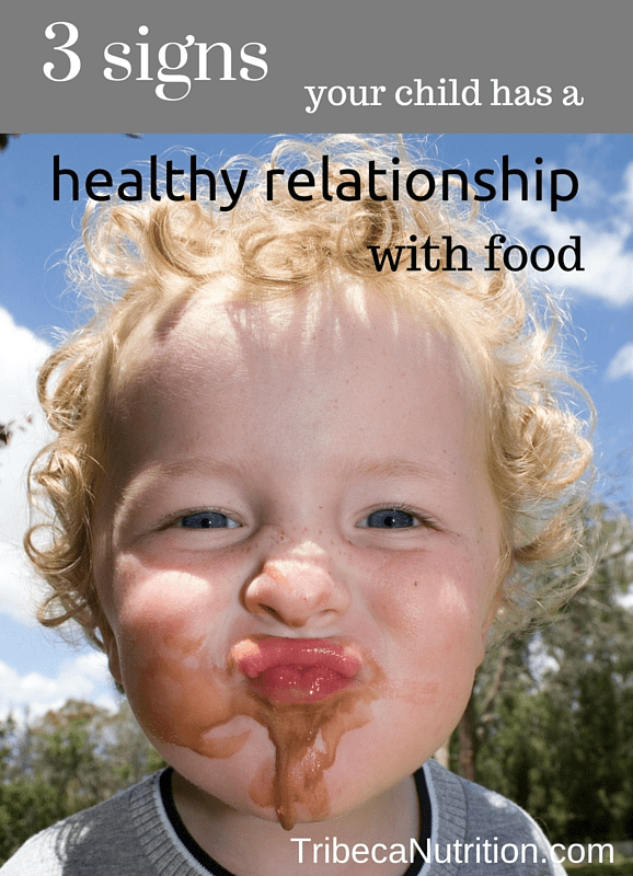 3 signs your child has a healthy relationship with food