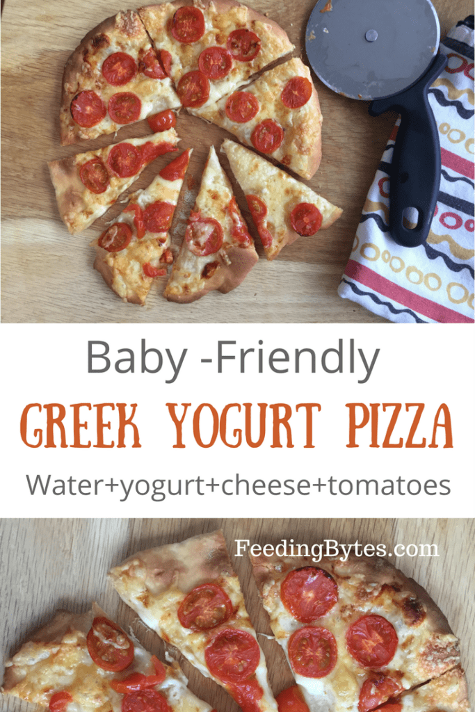 Only four ingredient baby friendly Greek Yogurt pizza is great for baby Led Weaning or just as a nutritious finger food for your baby and the whole family