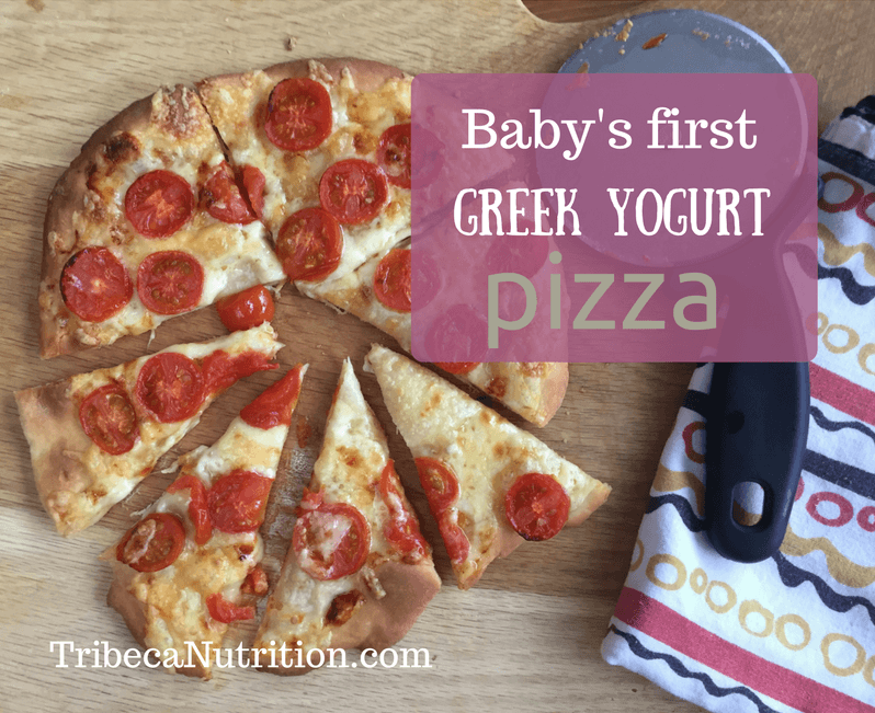 Baby's first Greek yogurt pizza