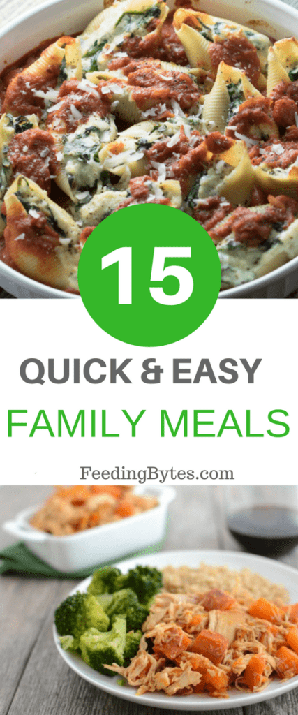 Need some crowd pleasing easy family meal recipes to feed your crowd? I got 15 for you in this post. These recipes come directly from my friends dietitians, so they are not only simple and delicious, but also full of nutritional goodness.