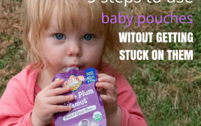 5 steps to use baby puree pouches without getting stuck on them
