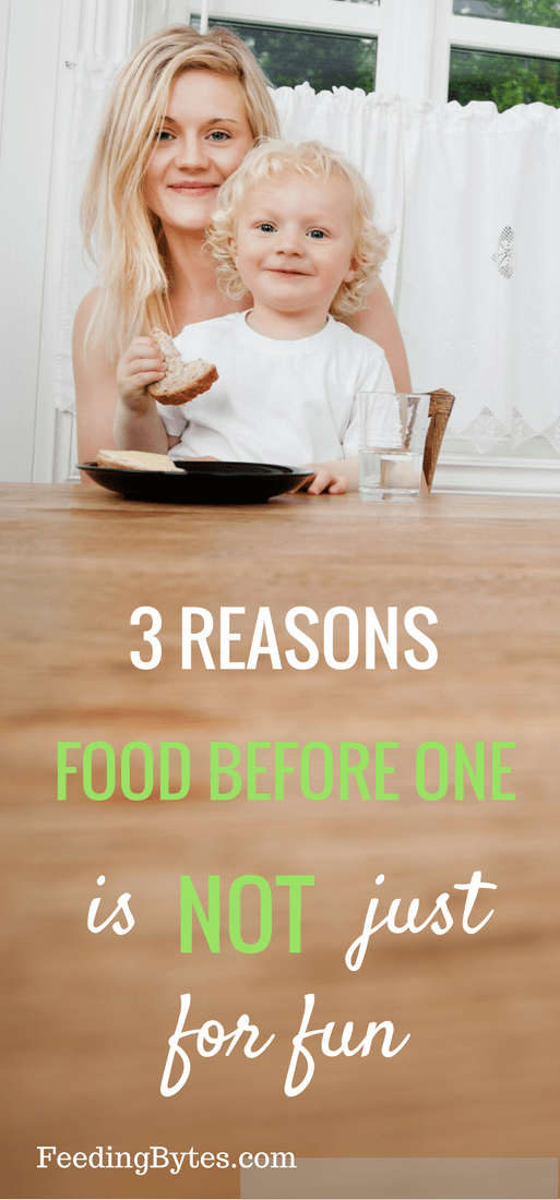 Food and eating have many important roles in the first year of life. Fun is definitely one of them, but let's not forget about learning, nutrition and spotting potential feeding problems.