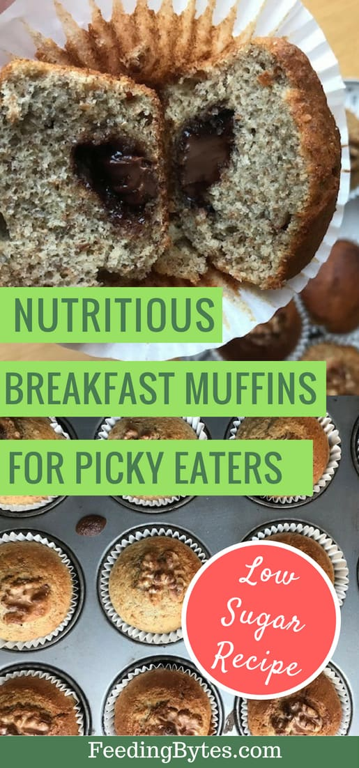 Nutritious, high fiber low sugar breakfast muffins for picky eaters. Recipe included. | Feeding Bytes