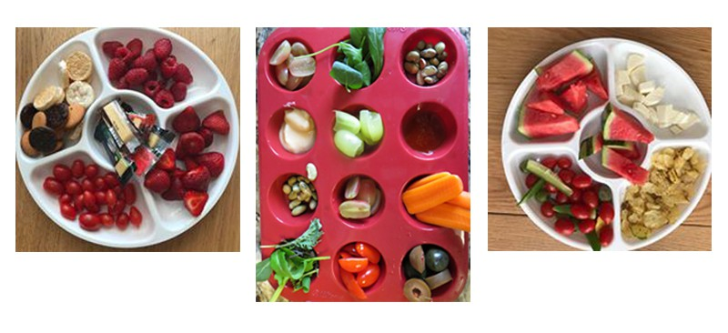 Snack plates with compartments