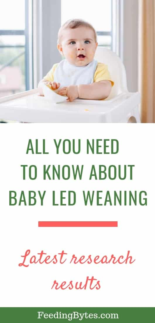 All you need to know about Baby led weaning - latest research results - baby on high chair