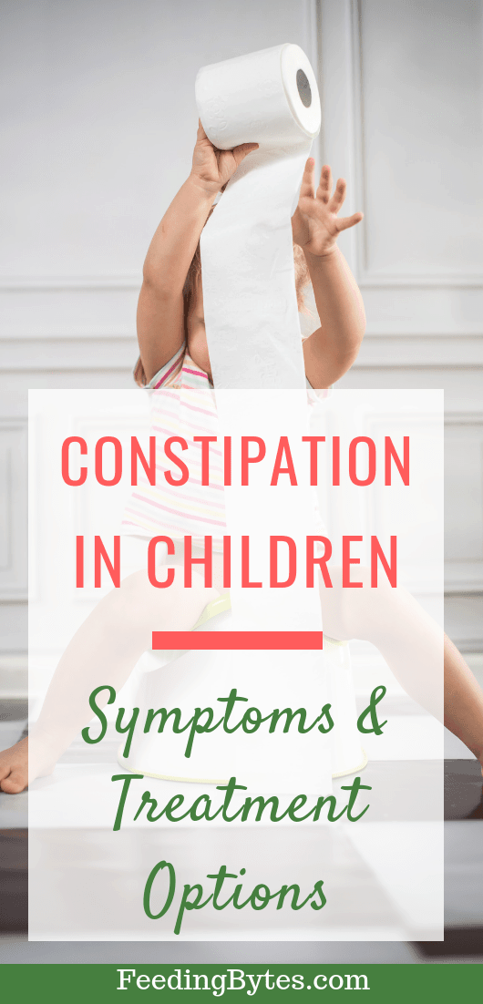 Constipation in children-symptoms and treatment options - child holding toilet paper