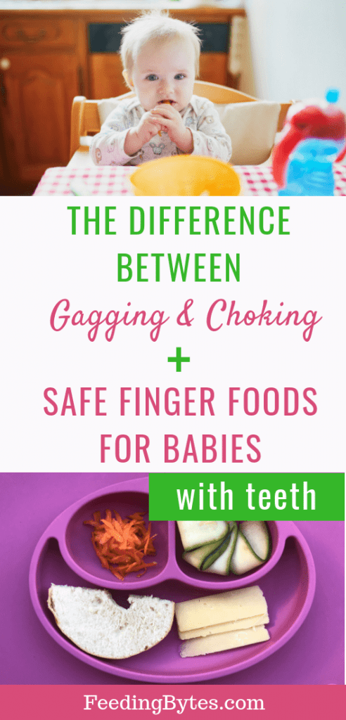 safe finger foods for babies with teeth - baby eating and a plate for baby finger food