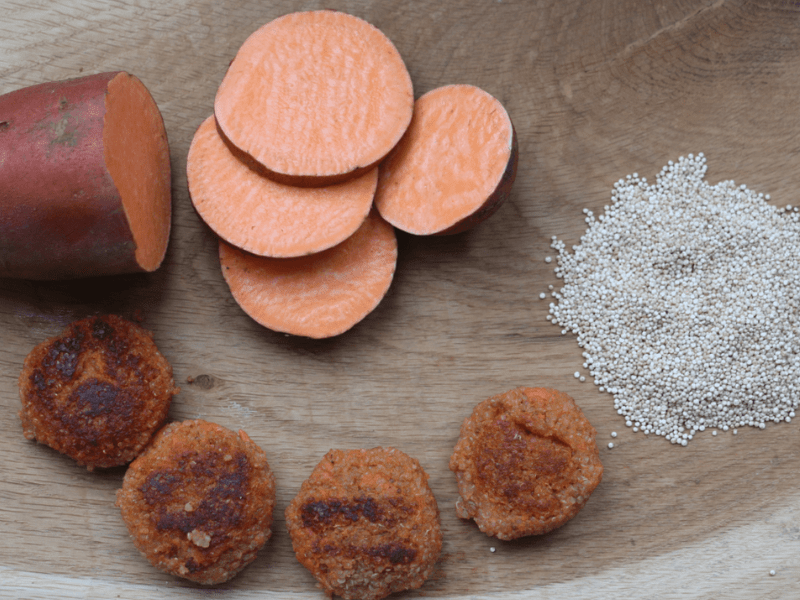 Sweet potato quinoa bites - finger food for babies