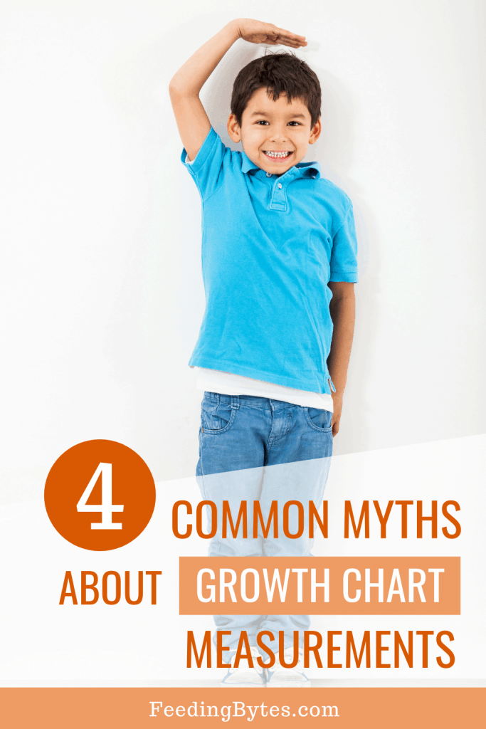 How to read a child growth chart - boy in a blue shirt and jeans measuring his height