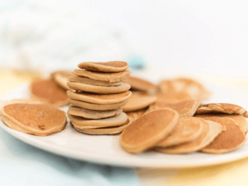 Baby cereal pancakes - finger food for babies