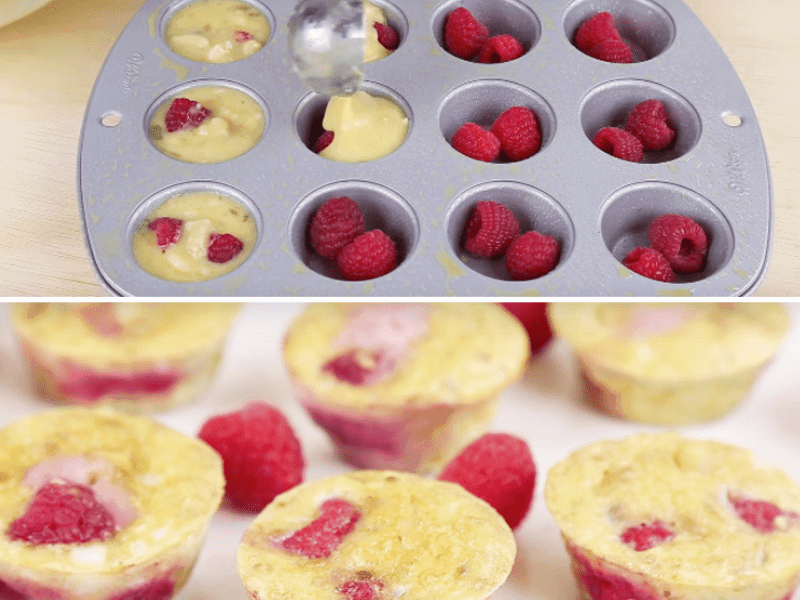 Three ingredient muffins - finger food for babies