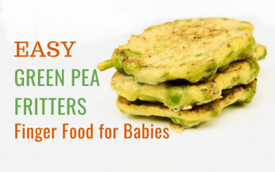 Easy Green Pea Fritters – 3 Ingredient Baby Finger Food