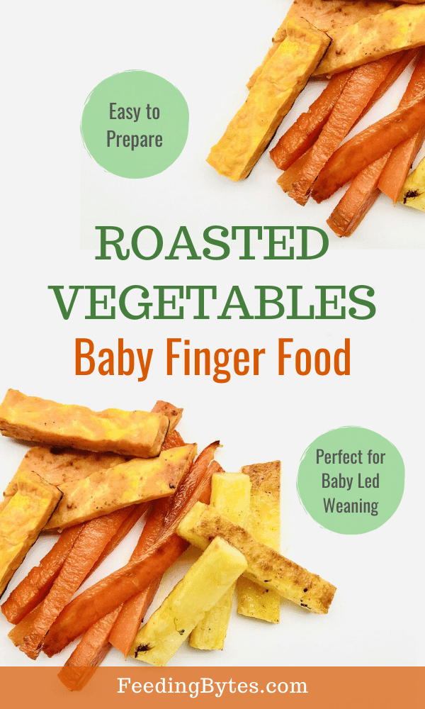 Easy roasted vegetables baby finger food